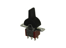 Miniature Rocker Switch Double Pole Double Throw, (On)-Off-(On)