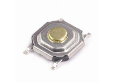 TACT Switch Surface Mount 5.2x5.2x1.5mm 260gf