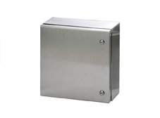 316 Stainless Steel Enclosure 600 x 600 x 300mm IP66. With White Powder Coated Mounting Plate.