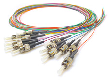 Pigtail OM4 Multimode ST 2M Coloured 12 Pack