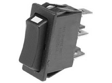 Rocker Switch, On-Off, SPDT, Black with white indicator