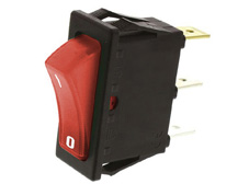 Rocker Switch, On-Off, SPST, Red neon