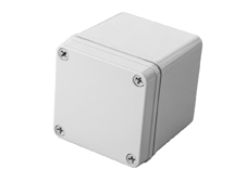 DSE Hi Box 125mm x 125mm x 75mm Enclosure Grey Polyester  Plastic Base and Lid