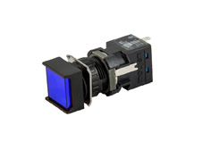 16mm Blue Pilot Light, Square, 24VDC LED