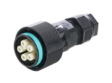 5 Pole Inline socket connector 17.5A 400V