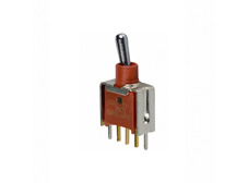 Sealed Subminiature Toggle Switch Single Pole Double Throw, On-Off-On