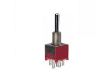 Subminiature Toggle Switch Double Pole Double Throw, On-On