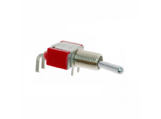 Subminiature Toggle Switch Single Pole Double Throw, On-Off-On