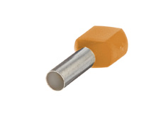 4mm² Twin wire ferrules, Orange (Pack = 100 pcs)