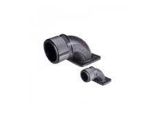 Conduit connector, IP65/67, 90º elbow with flange, suits 15.8mm OD conduit