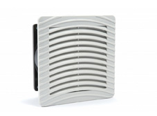 24V Fan and Filter, Panel Mount, RAL7035, IP54. 150x150 external dimensions.