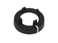 Black Nut cover with line, 11mm