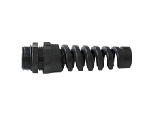 M25 Nylon Spiral Gland Black